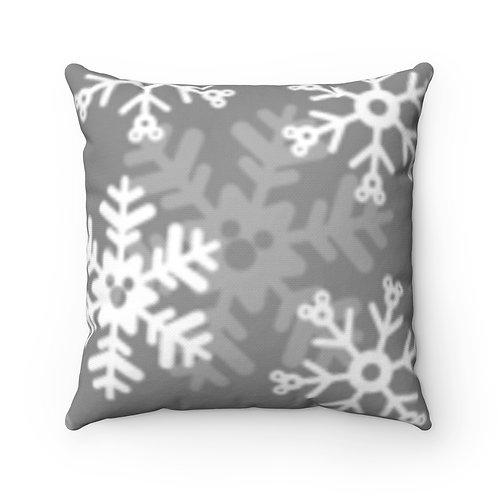 Snoap Flakes Pillow Case - Gray