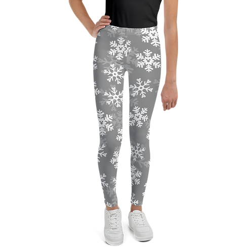 Snoap Flakes Youth Leggings - Gray