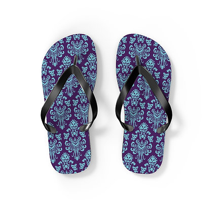 Happy Haunts Flip Flops - Purple