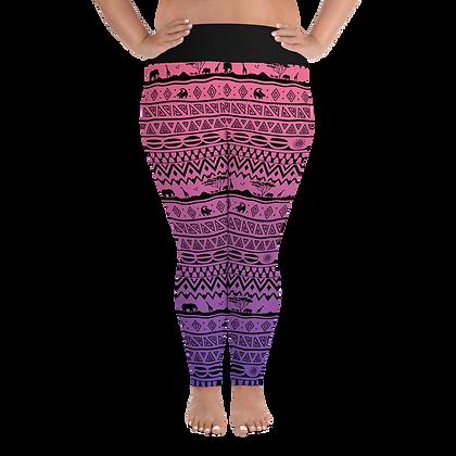 Asante Sana Plus Size Leggings - Sunset