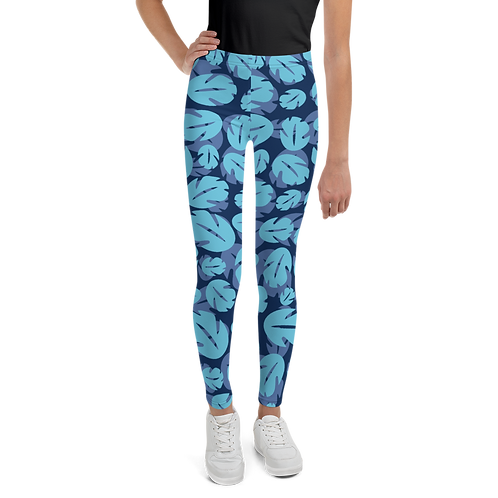 Ohana Youth Leggings - Blue