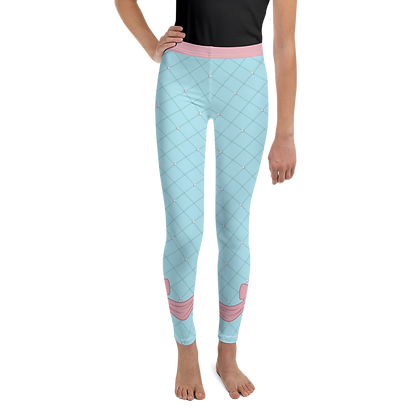 Pink Bow Youth Leggings