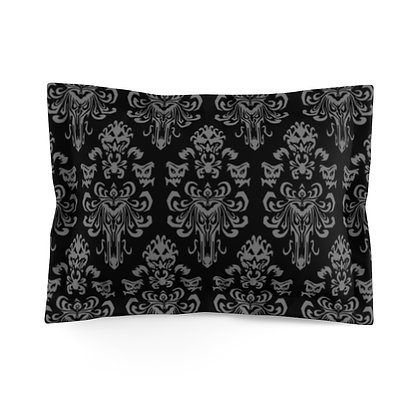 Happy Haunts Pillow Sham - Black