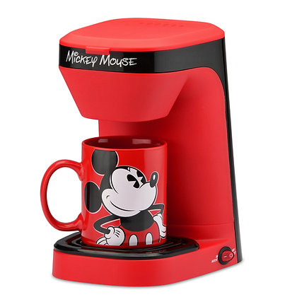 Mickey Mouse 1-Cup Coffee Maker with 12 Ounce Mug