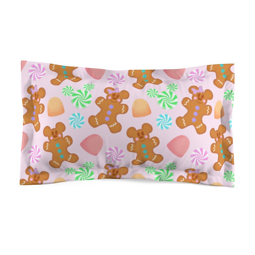 Gingerbread Pillow Sham - Pink