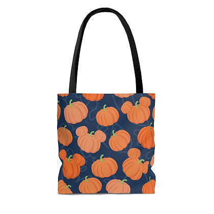 Pumpkin Patch Tote Bag - Navy