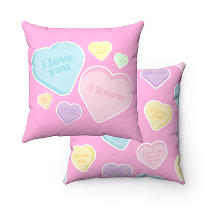 Candy Hearts Pillow Case