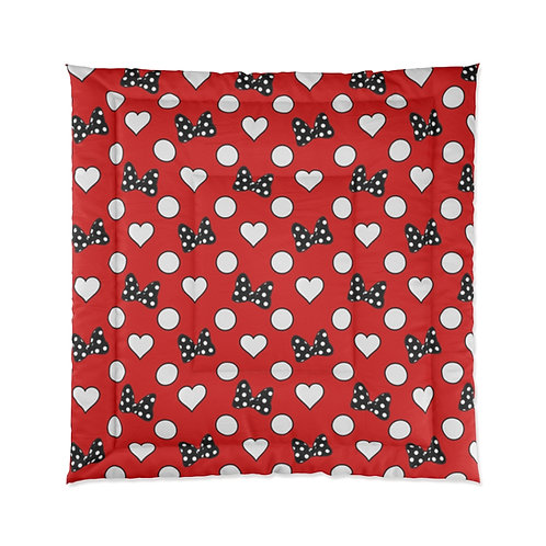Rock Your Dots Comforter  - Red