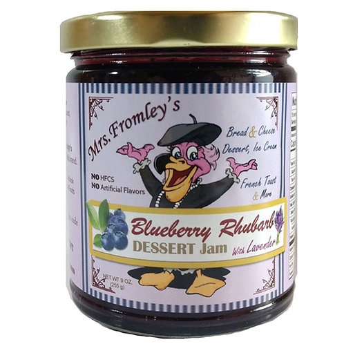 Mrs. Fromley's Blueberry Rhubarb Jam with Lavender