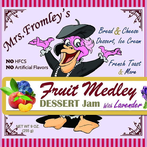 Mrs. Fromley's Fruit Medley Jam With Lavender