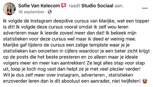 Review Sofie Van Kelecom sofit
