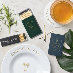 Brand positioning, strategy, identity, mockups + copy for Ember & Rye Steakhouse at The Park Hyatt Aviara
