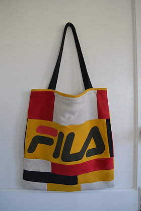 Reworked FILA Patchwork Tote Bag