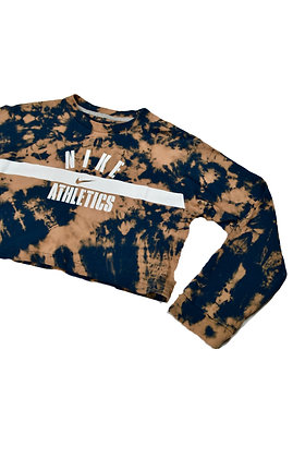 Hand-Dyed Nike Crop - M