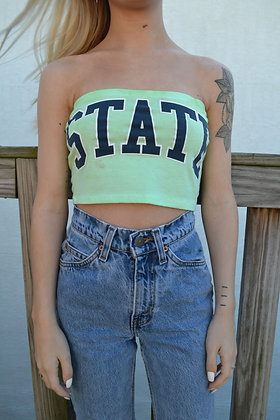 Reworked Penn State Tube Top - S