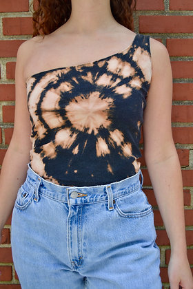 Hand-Dyed One-Shoulder Tank - S/M