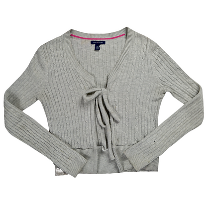 Reworked Tommy Hilfiger Tie-Front Sweater - S