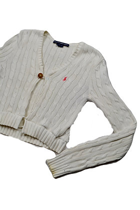 Reworked Polo by RL Open-Front Sweater - S
