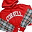 Thumbnail: Reworked College Flannel-Sleeve Hoodie - S