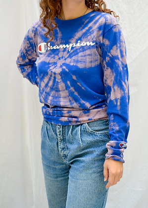 Hand-Dyed Champion Long-Sleeve Tee - M
