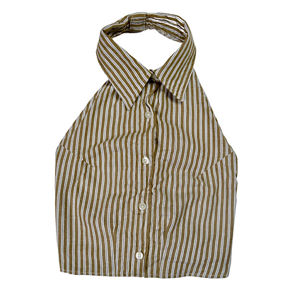 Reworked Backless Dress Shirt - M