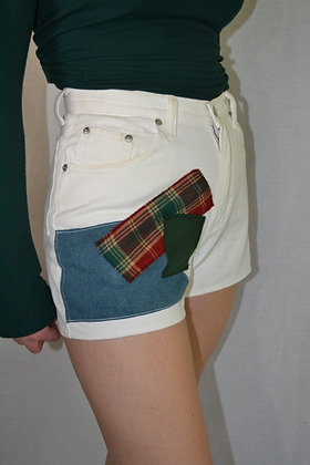 Reworked Patchwork Shorts