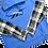 Thumbnail: Reworked Reebok Flannel-Sleeve Hoodie - L