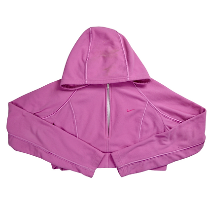 Reworked Cropped Nike Fleece Jacket - M