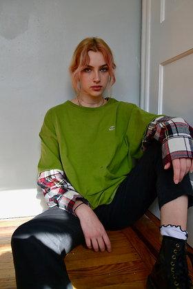 Reworked Champion Flannel-Sleeve Tee