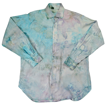 Hand-Dyed Oversized Dress Shirt - L/XL