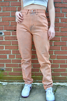 Hand-Dyed Mom Jeans - 27