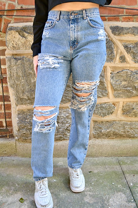 Reworked Mom Jeans