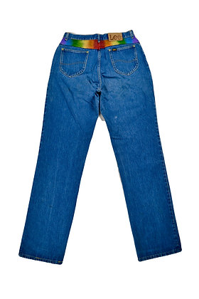 Hand-Painted Lee Jeans - 28