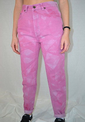 Hand-Dyed Mom Jeans