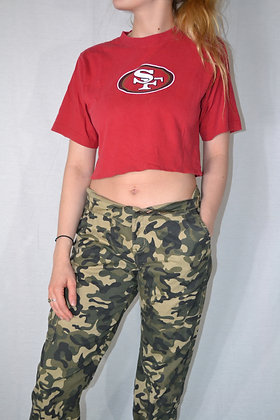 Cropped 49ers Tee - S