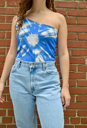 Hand-Dyed One-Shoulder Tank
