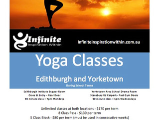 Term 1 2018 Yoga Classes
