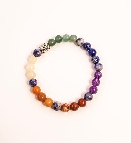 7 Chakra Buddha Beaded Bracelet