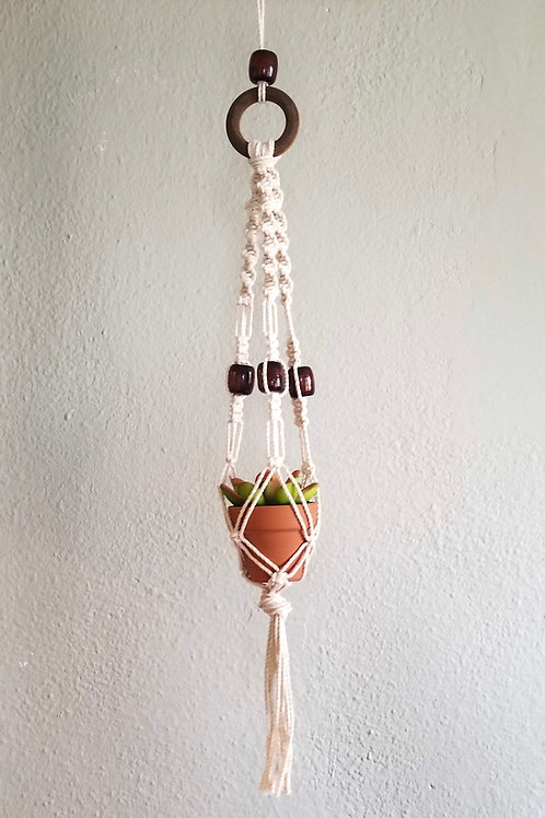 Mini Macrame Hanging Planter
