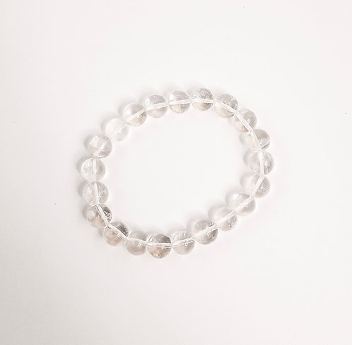 Clear Quartz Beaded Bracelet