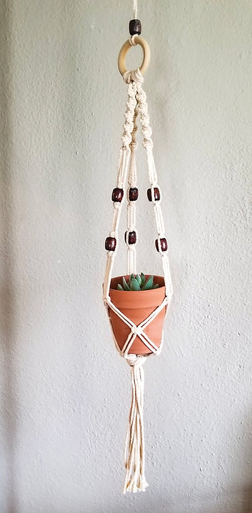 Small Macrame Hanging Planter