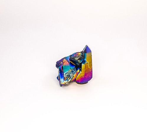 Rainbow Titanium Quartz Cluster - Small