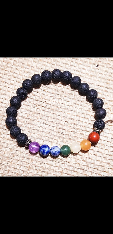 Chakra Lava Bracelet