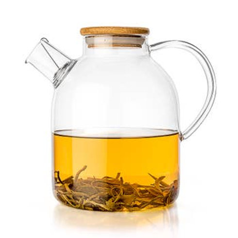 Large Glass TEALYRA Teapot And Kettle 60oz - Stove-Top