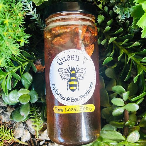 Bird Eye Pepper infused in Raw Honey, Leland, NC