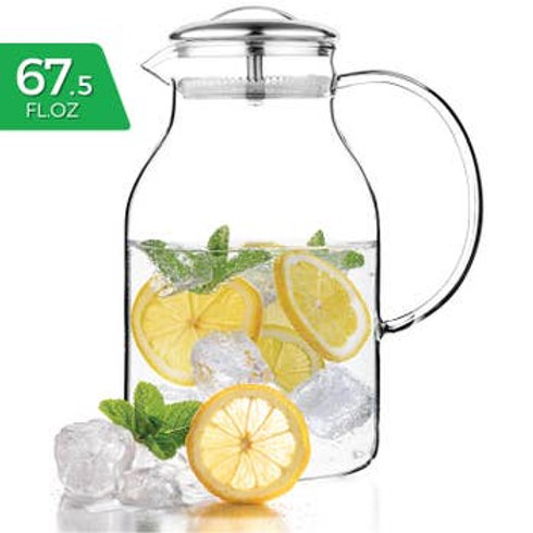 Glass Carafe 67.5 oz Stove-Top Safe Pitcher Teapot Kettle