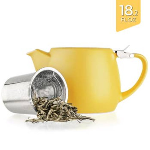 Pluto Yellow Porcelain Teapot Infuser 18.2 oz