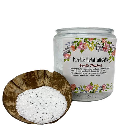 Vanilla Patchouli Bath Salt