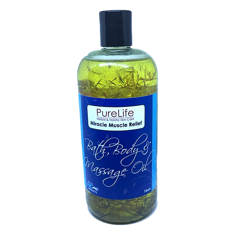 Miracle Muscle Relief Bath, Body and Massage Oil