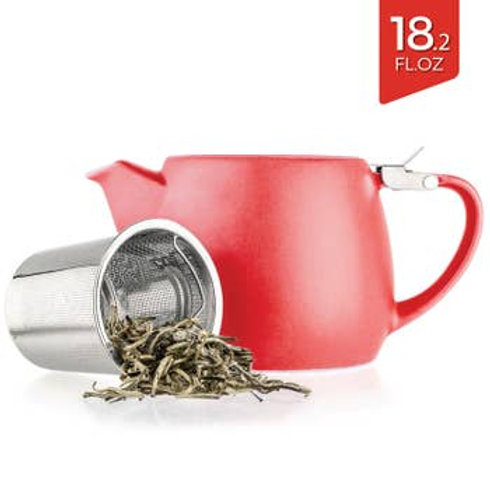 Pluto Red Porcelain Teapot Infuser 18.2 oz